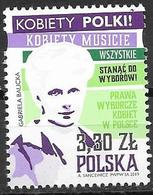 POLAND, 2019, MNH,WOMEN'S RIGHTS, POLISH WOMEN'S ELECTORAL RIGHTS,  1v - Stamps