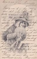 Jeune Femme Chapeau Et Manchon De Fourure -style Viennoise-  (lot Pat 103) - Frauen