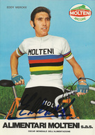 CARTE CYCLISME EDDY MERCKX SIGNEE TEAM MOLTENI 1972 - Cyclisme