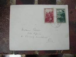 1941 Lettre 2 Timbre Pour Nos Prisonniers De Guerre 1 F Plus 5 F Et 80 Plus 5 F Sur Lettre - Postmark Collection (Covers)