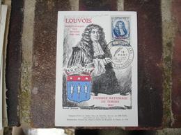 1947 Sidi Bel Abbes Cm Carte Maximum Louvois - Maximumkaarten