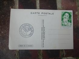 Erinnophilie Le Faux Dans Histore Art Et Histore Vignette Timbre Sur Carte Avec Obliteration - Commemorative Labels