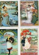 Lot De 20 Cartes Postales Modernes - REPRODUCTION D' Affiches Chemins De Fer - 5 Scan. - Postales