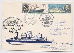 SPACE Cover Mail USSR RUSSIA Rocket Sputnik Ship Fleet Gagarin  Leningrad Communication - Rusia & URSS