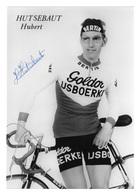 CARTE CYCLISME HUBERT HUTSEBAUT SIGNEE TEAM GOLDOR 1972 - Cyclisme