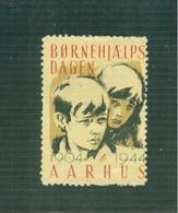 AARHUS - BORNEHJAELPS DAGEN ,1904 - 1944 ,ERINNOFILO - Vignette Di Affrancatura (ATM/Frama)