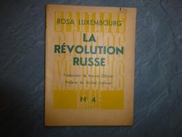 Rosa Luxembourg, La Révolution Russe, 1937 ; L05 - Books, Magazines, Comics