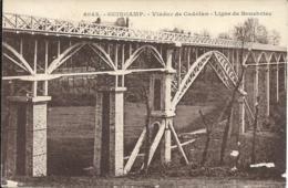 D22 - GUINGAMP - VIADUC DE CADOLAN - LIGNE DE BOURBRIAC - Carte Sépia - Guingamp