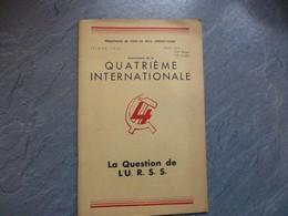 Quatrième Internationale, La Question De L'URSS, 1946 ; L05 - Books, Magazines, Comics