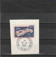 TAAF Yvert 32 Oblitéré Sur Fragment Archipel Des Kerguelen 22/6/1971 - OIT - Terres Australes Et Antarctiques Françaises (TAAF)