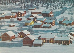 Village In Winter Landscape - Lennart Helje - Pictura Graphica AB - Kerstmis