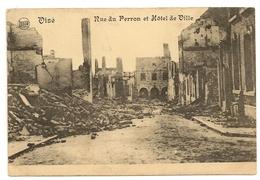 VISE - Rue Du Perron Et Hôtel De Ville. Guerre 1914-1918.Oblitération Ransart Et Visé 1920. - Visé