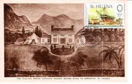 Sainte Hélène Carte Postale Maison De Napoléon Avant De Partir Pour Longwood - Saint Helena Island