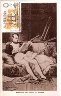 Sainte Hélène Carte Postale Napoleon And Child - Sainte-Hélène