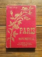 Carte , Plan De Paris - A. Taride éditeur - Début Du XX ° 1906 - Paris Monuments Et Environs De Paris . - Callejero
