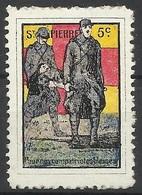 Vignette Croix-Rouge Saint Pierre Et Miquelon Première Guerre Mondial WW1 - Erinnophilie