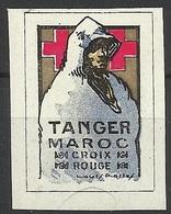 Vignette Croix-Rouge MAROC TANGER Première Guerre Mondial WW1 - Erinnophilie