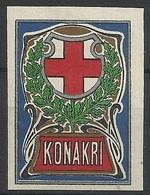 Vignette Croix-Rouge Guinée Konakry Conakry Première Guerre Mondial WW1 - Croix Rouge