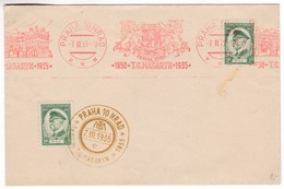 K192 Czechoslovakia Red Meter Freistempel EMA 1935 PRAHA 10 HRAD T.G. MASARYK - Briefe U. Dokumente