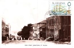 Sainte Hélène Carte Postale : Rue Principale Jamestown - Sainte-Hélène