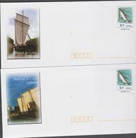 FRANCE 5 Enveloppes PAP Prêt à Poster Saumon N°YT 2665 Avec 5 Illustrations Orléans Val De Loire - 2005 - Enteros Postales