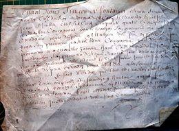 14 CAEN PARCHEMIN 17 ' CONDAMNANT UN DENOMME COUYAVAUD A PAYER UNE TAXE  A CAEN 1657 DOCUMENT  AUTHENTIQUE - Manuscripts
