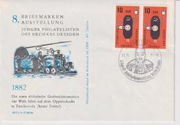 Brief, Zudruck Erste Elektrische Grubenlok Auf Oppelschacht Freital 1882, Sst Bergmann, Bergbau, 1981 - Minerals