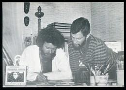 CARTE POSTALE De Jacques LARDIE  - Jacques LARDIE Reçoit J.Cl. SOUYRI à BEAUCAIRE 1er Avril 1983 - Lardie