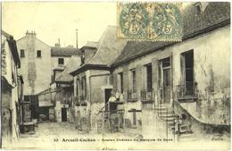 CPA DE ARCUEIL-CACHAN  (VAL DE MARNE)  ANCIEN CHÂTEAU DU MARQUIS DE SAXE - Arcueil