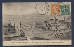 Ville De Vertus Tête Nord De Cette Ville Dessinée Par Chatillon En 1422 - Vertus