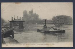 Inondations De Paris Le Quai Montebello - Paris Flood, 1910