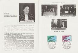 """Service                 """"STRASBOURG Le Conseil Européen Et Les Pays De L' Est """"     Cachet Temporaire 5/5/1992 - Lettres & Documents"""