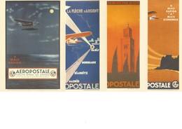 Aéropostale - Lot De 4 Cartes Postales Neuves Pré-timbrées Monde (valeur Faciale 5,60€) - 1919-1938: Interbellum