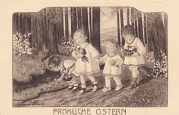 Pauli EBNER - Fröhliche Ostern (carte En Noir Et Blanc) - Ebner, Pauli