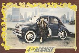 CP Auto Renault 4 CV 1954 A108 Bibliothèque Forney - Passenger Cars