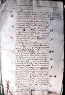 49 LAVAU BAUGE EVENTILLATION DE MAISONS A LAVAU INVENTAIRE DETAILLE DE TERRAINS  DOCUMENT  AUTHENTIQUE  19' - Manuscripts