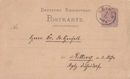DR Ganzsache K1 Weimar 7.3.77 Gel. Nach Kettwig - Deutschland