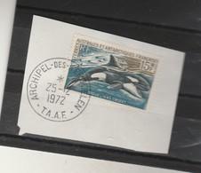TAAF Yvert 30 Oblitéré Sur Fragment   Archipel Des Kerguelen 25/12/1972 - Orque - Terres Australes Et Antarctiques Françaises (TAAF)