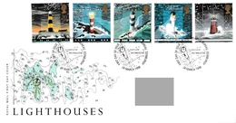 GREAT BRITAIN 1998 Lighthouses: First Day Cover CANCELLED - 1991-2000 Dezimalausgaben
