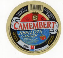 Fev20  94003  étiquette Camembert   Magasin U - Formaggio