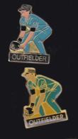 61640-lot De 2 Pin's.baseball - Baseball