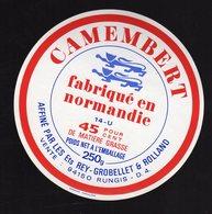 Fev20  94002   étiquette Camembert    Ets Rey Grobellet   Rungis - Formaggio