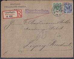 DR Orts-R-Brief Mif Minr. 46,48 K1 Leipzig-Plagwitz Gel. Nach Leipzig-Reudnitz 10.5.94 - Covers & Documents
