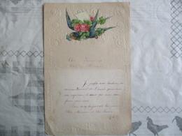 HIRONDELLE ET FLEURS SUR COURRIER DU 31 DECEMBRE 1919 - Immagine Tagliata