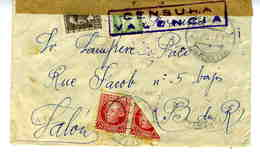 GUERRA CIVIL 1937 ELDA ALICANTE  Con 1/2 SELLO  Hasta  Francia  EL 679 - 1931-Aujourd'hui: II. République - ....Juan Carlos I