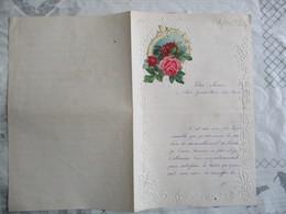 ROSES SUR COURRIER DU 29 DECEMBRE 1904 - Fiori