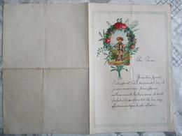 ENFANT ET FLEURS SUR COURRIER DU 1er JANVIER 1922 - Ragazzi