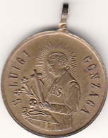 Medaglia Devozionale - San Luigi Gonzaga - Gr. 6,6 Bronzo Anno 1830 - Italia