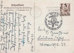 DR Ganzsache Minr. P282 SST Wien 26.8.39 Studenten-Weltspiele - Briefe U. Dokumente