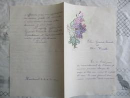 FLEURS SUR COURRIER DU 30 Xbre 1909 - Bloemen